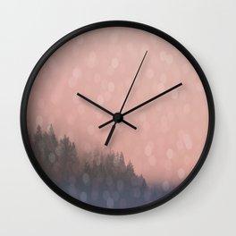 Frosty Morn, Forest Landscape Sparkles Wall Clock