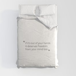 Cute quote, cute slogan, motivational quote Comforters