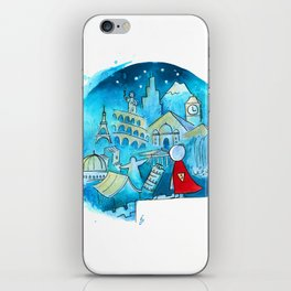 Travel the world iPhone Skin