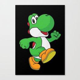 Yoshi Pop Art - Black Canvas Print