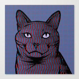 Wavy Catnip Canvas Print