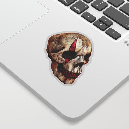 Circus Clown Skull Sticker