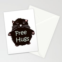 Free hugs. Cute kitty Stationery Cards