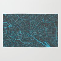 berlin Area & Throw Rugs featuring Berlin by Map Map Maps