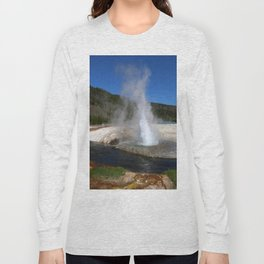 Thermal And Geyser Field Yellowstone NP Long Sleeve T-shirt
