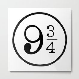 Platform 9 3/4 Nine And Three Quarters Metal Print