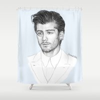 zayn Shower Curtains featuring Zayn sketch by Coconut Wishes