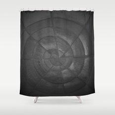 Dark Spiral Shower Curtain