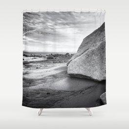 Kenai Beach bw Shower Curtain
