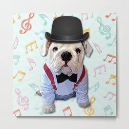 Bulldog Hat Metal Print