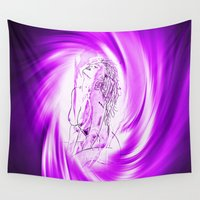 erotic Wall Tapestries featuring Space and time 8  Erotic by Walter Zettl