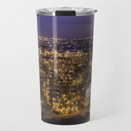 Oil Refinery at Sunset Travel Mug