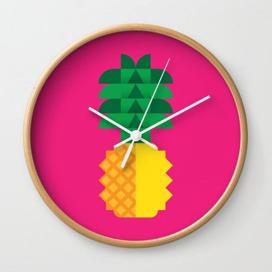 Fruit: Pineapple Wall Clock