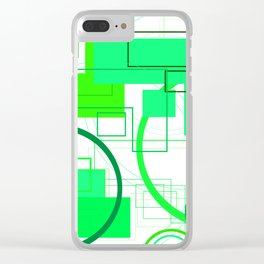 Typography: Stencil Font and San Serif Font Clear iPhone Case