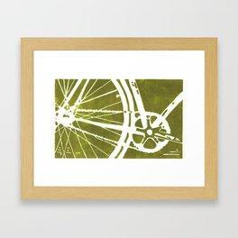 Olive Bike Framed Art Print