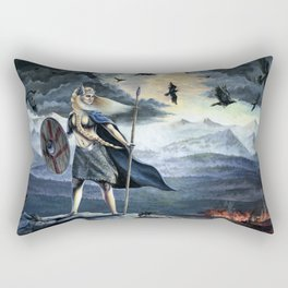 Valkyrie and Crows Rectangular Pillow
