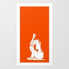 1Girl.1 Art Print