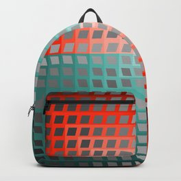 Rainbow Squares Victor Vasarely Style 3 Backpack