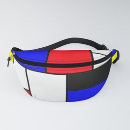 Red Blue Yellow Geometric Squares Fanny Pack