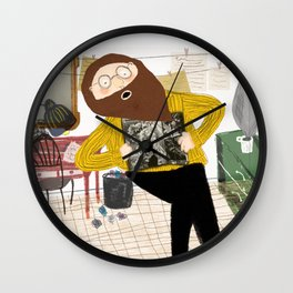 The poet's belly Wall Clock