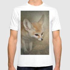 Little Fennec Fox White MEDIUM Mens Fitted Tee
