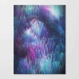 Glitch Galaxy Canvas Print