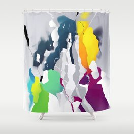 Who squashed the skyline Shower Curtain