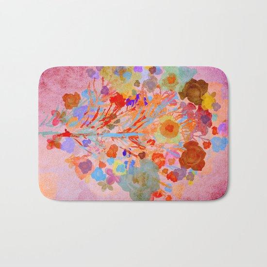 Floral abstract(46). Bath Mat