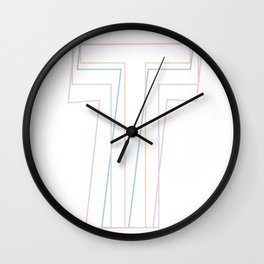 Intertwined Strength and Elegance of the Letter H Wall Clock