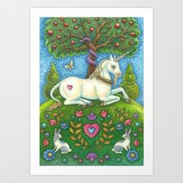 LAND OF EDEN UNICORN - Brack Eve's Garden Art Print
