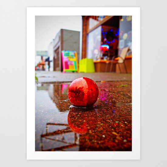 Rainy day decoration Art Print