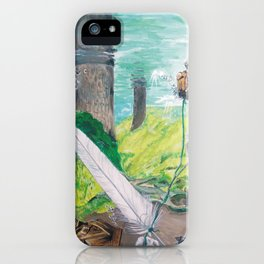 The feather and the word iPhone Case