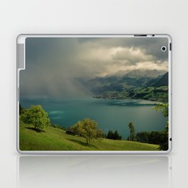 arising storm over lake lucerne Laptop & iPad Skin