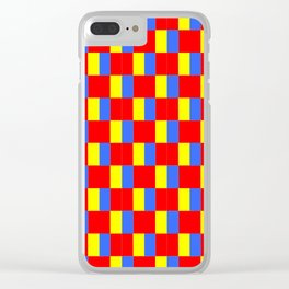 Mix of flag: Paris and Roma. Clear iPhone Case