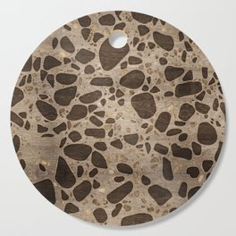 Terrazzo - Mosaic - Wooden texture and gold #6 Cutting Board