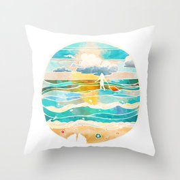 Bittersweet waves Throw Pillow