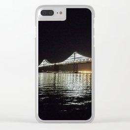 Bay Bridge Night Time Clear iPhone Case