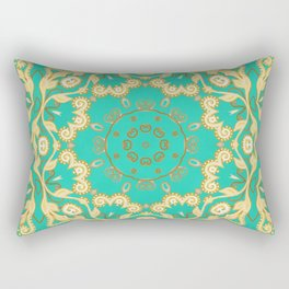 Cassy in Emerald Teal Rectangular Pillow