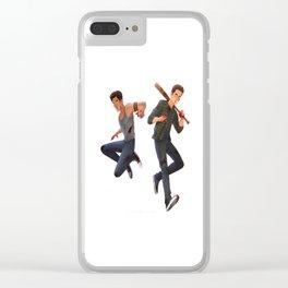 Scott McCall and Stiles Stilinki Fan Art Clear iPhone Case