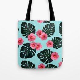 Tropical pattern n.1 - pale blue Tote Bag