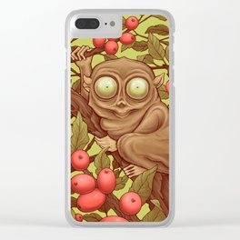 The Caffeinated Tarsier Clear iPhone Case