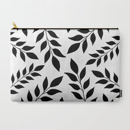 Black Leaves Pattern Carry-All Pouch