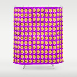 Skull Wave Shower Curtain