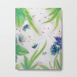 Leaves and flowers Metal Print