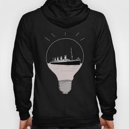 Ship in a light bulb. Home decor Graphicdesign Hoody