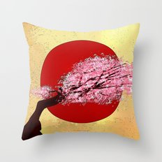 CH33RY BLOSSOMS  - 033 Throw Pillow