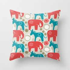 left and right Throw Pillow