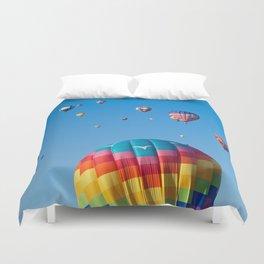 Vibrant Hot Air Balloons Duvet Cover