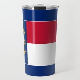 North Carolina State Flag Patriotic Design Travel Mug