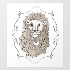 Lion Heart Art Print